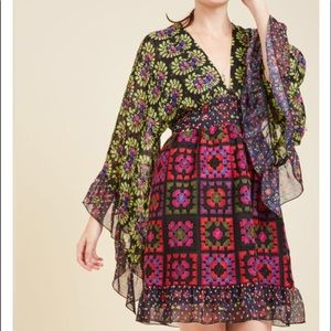ModCloth Anna Sui embroidered dress